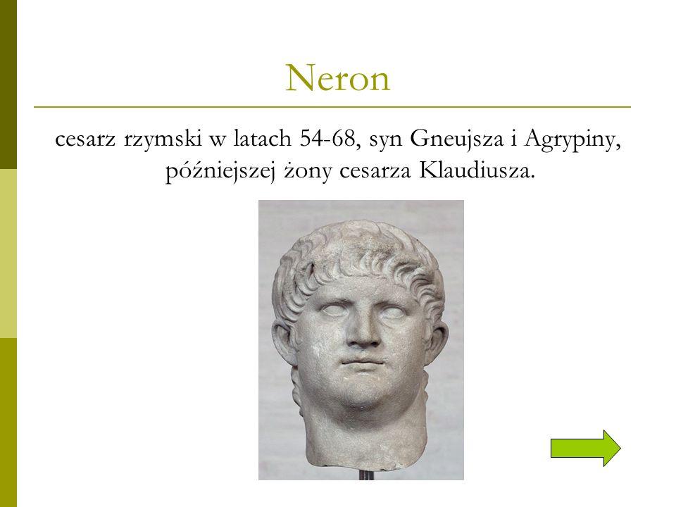 Neron - władca Żądny władzy Neron, zaledwie siedemnastolatek w chwili objęcia władzy, dążył do narzucenia hellenistycznych form sprawowania władzy, nieustannie rywalizował z senatem o wpływy…