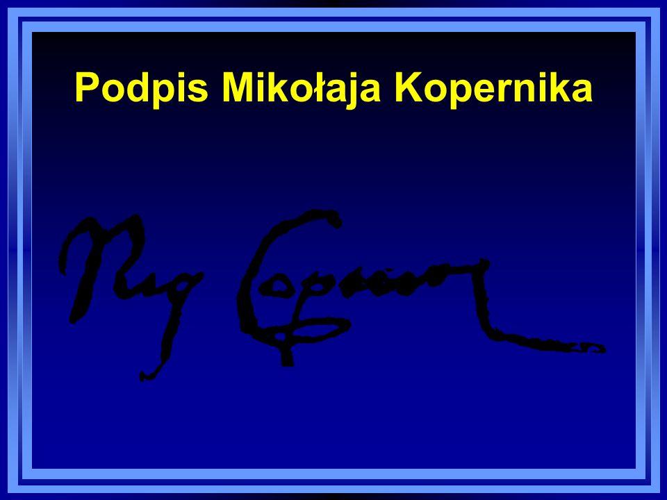 Podpis Mikołaja Kopernika