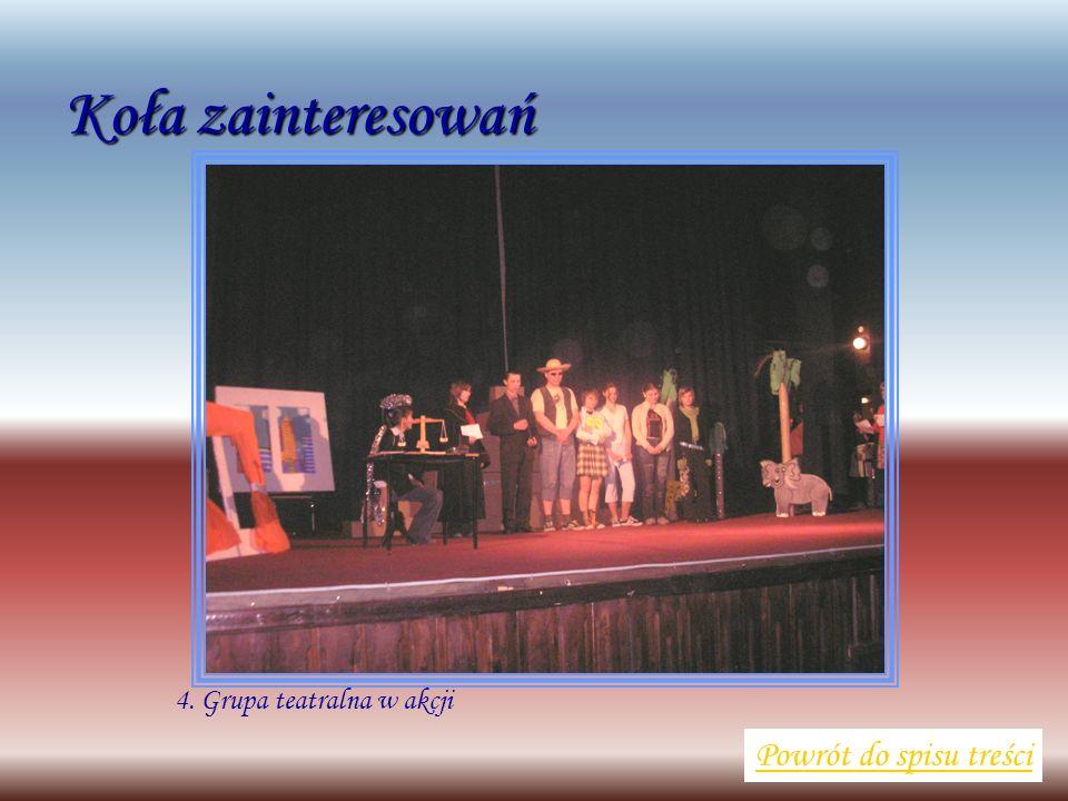 4. Grupa teatralna w akcji Powrót do spisu treści Koła zainteresowań