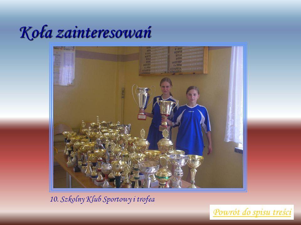 10. Szkolny Klub Sportowy i trofea Powrót do spisu treści Koła zainteresowań