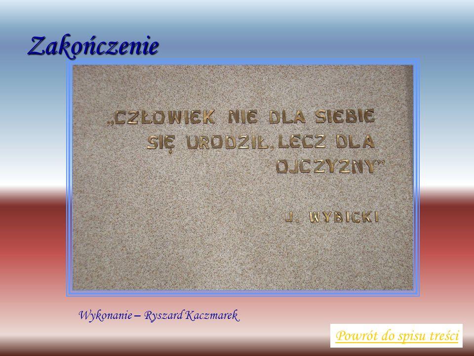 Wykonanie – Ryszard Kaczmarek Powrót do spisu treściZakończenie