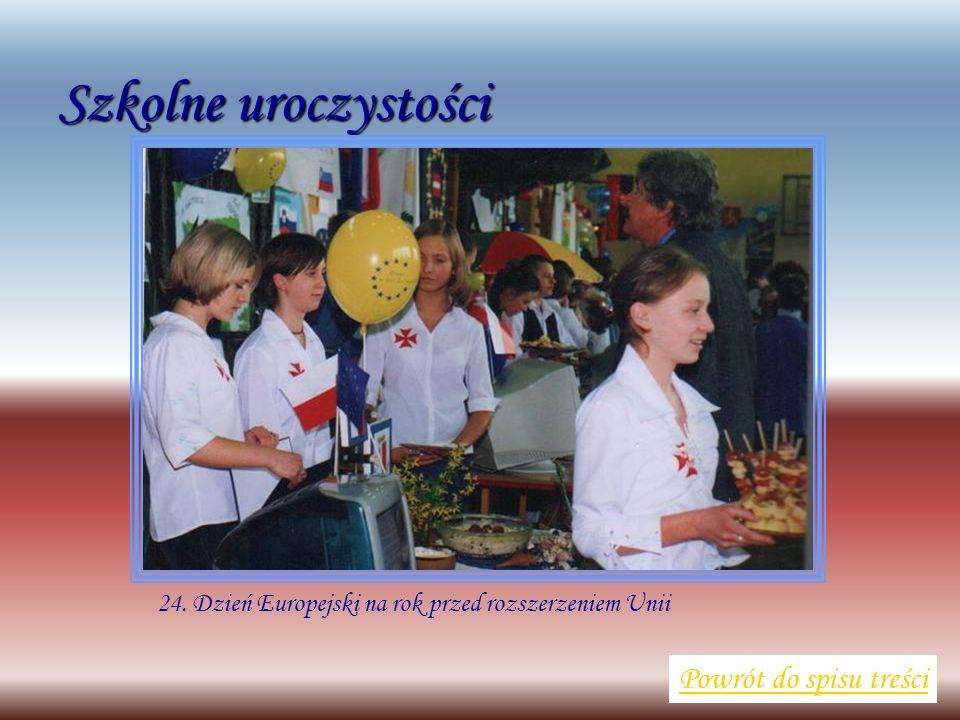 Szkolne uroczystości Powrót do spisu treści 24. Dzień Europejski na rok przed rozszerzeniem Unii