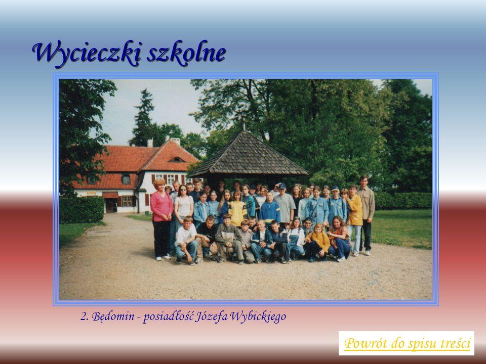 Wycieczki szkolne Powrót do spisu treści 2. Będomin - posiadłość Józefa Wybickiego