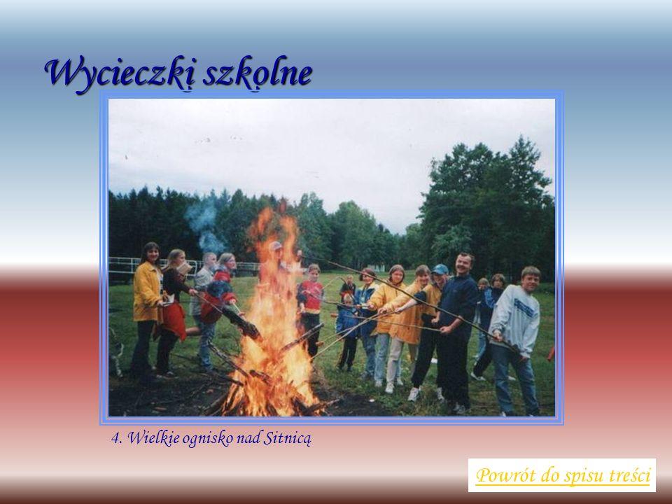 Wycieczki szkolne Powrót do spisu treści 4. Wielkie ognisko nad Sitnicą