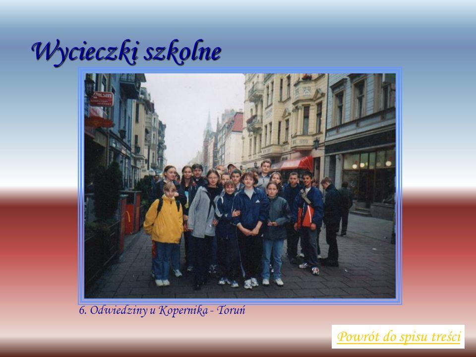 Wycieczki szkolne Powrót do spisu treści 6. Odwiedziny u Kopernika - Toruń