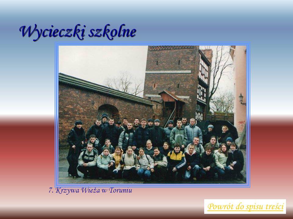 Wycieczki szkolne Powrót do spisu treści 7. Krzywa Wieża w Toruniu