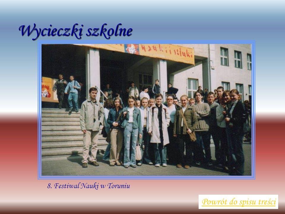 Wycieczki szkolne Powrót do spisu treści 8. Festiwal Nauki w Toruniu
