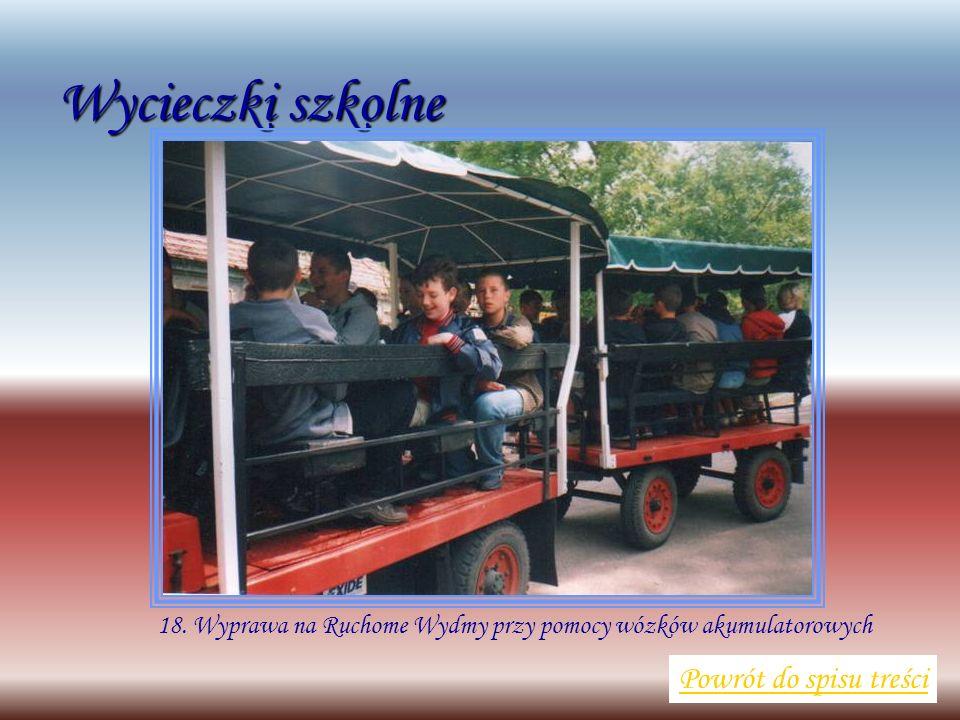 Wycieczki szkolne Powrót do spisu treści 18. Wyprawa na Ruchome Wydmy przy pomocy wózków akumulatorowych