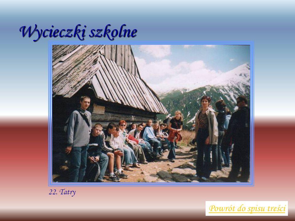 Wycieczki szkolne Powrót do spisu treści 22. Tatry