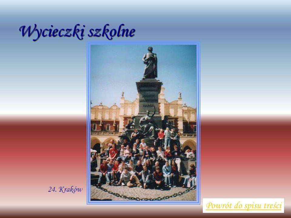 Wycieczki szkolne Powrót do spisu treści 24. Kraków