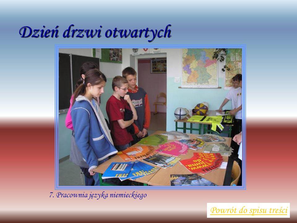 7. Pracownia języka niemieckiego Powrót do spisu treści Dzień drzwi otwartych