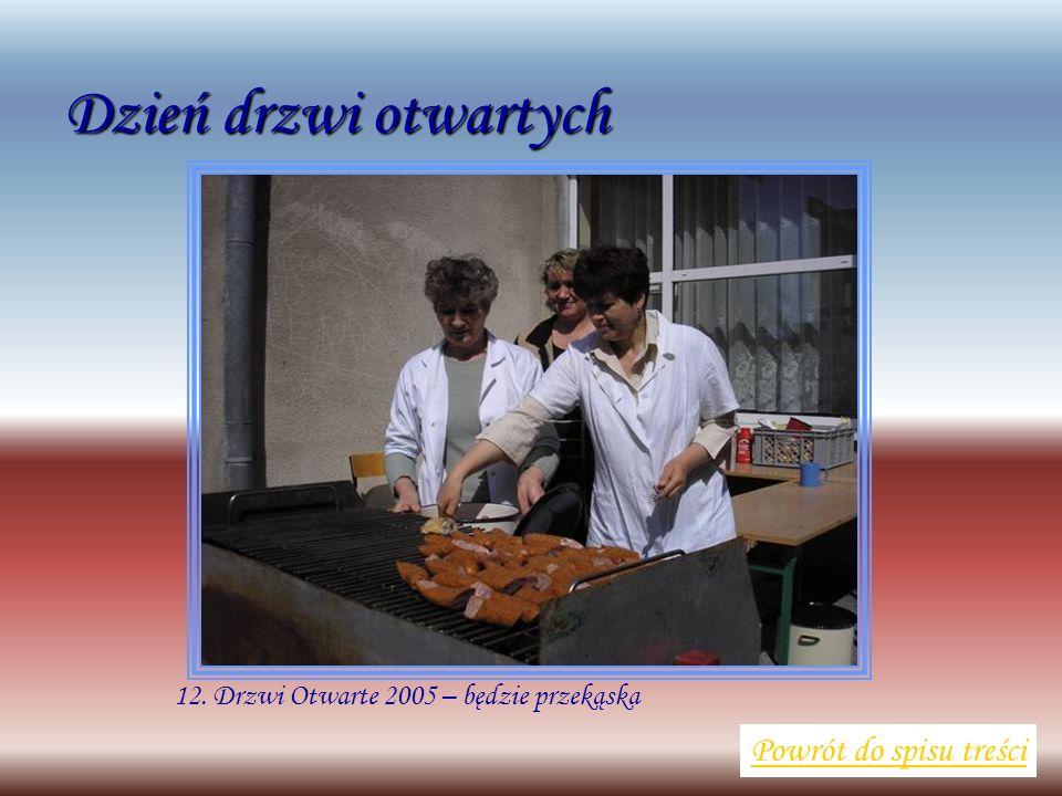 12. Drzwi Otwarte 2005 – będzie przekąska Powrót do spisu treści Dzień drzwi otwartych