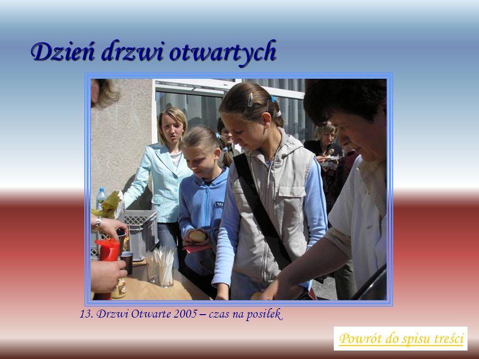 13. Drzwi Otwarte 2005 – czas na posiłek Powrót do spisu treści Dzień drzwi otwartych