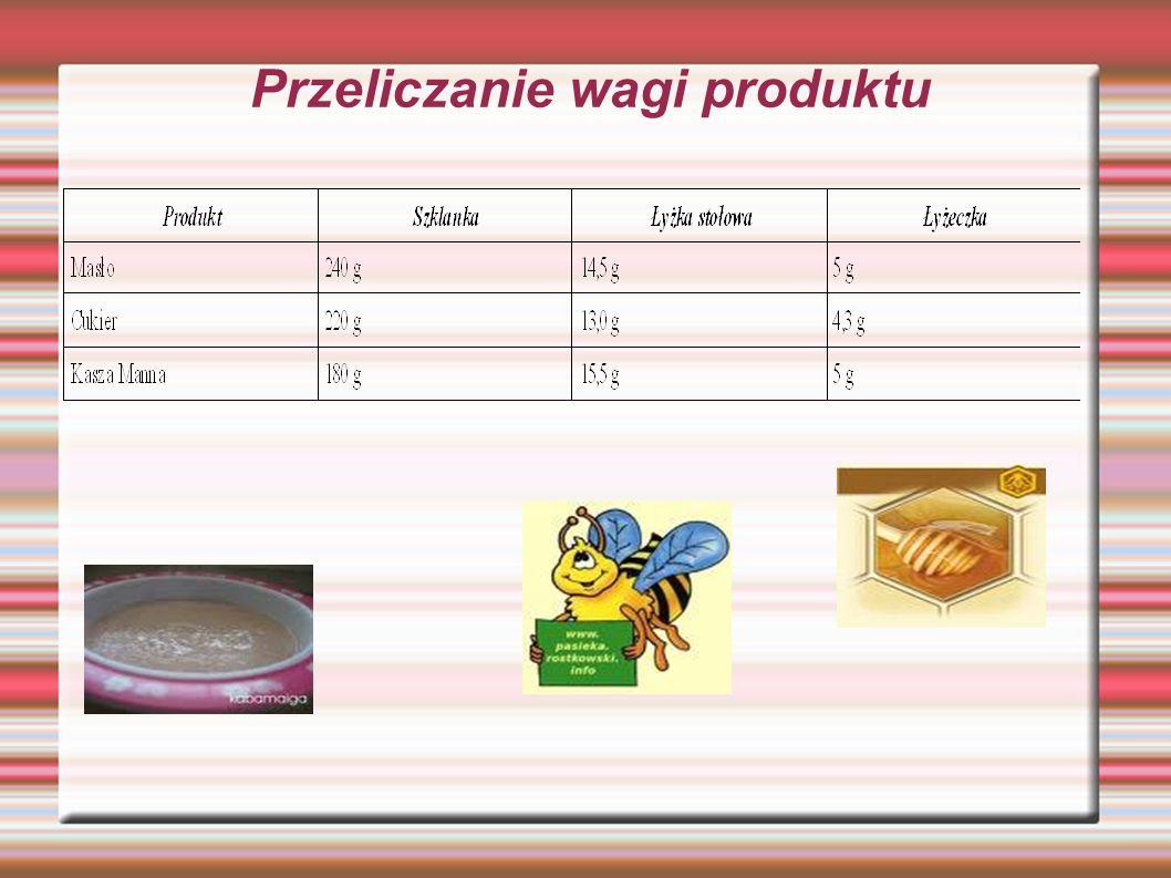 Przeliczanie wagi produktu
