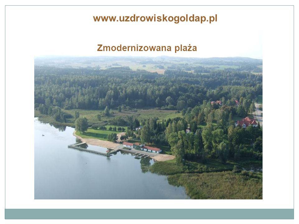 Zmodernizowana plaża www.uzdrowiskogoldap.pl