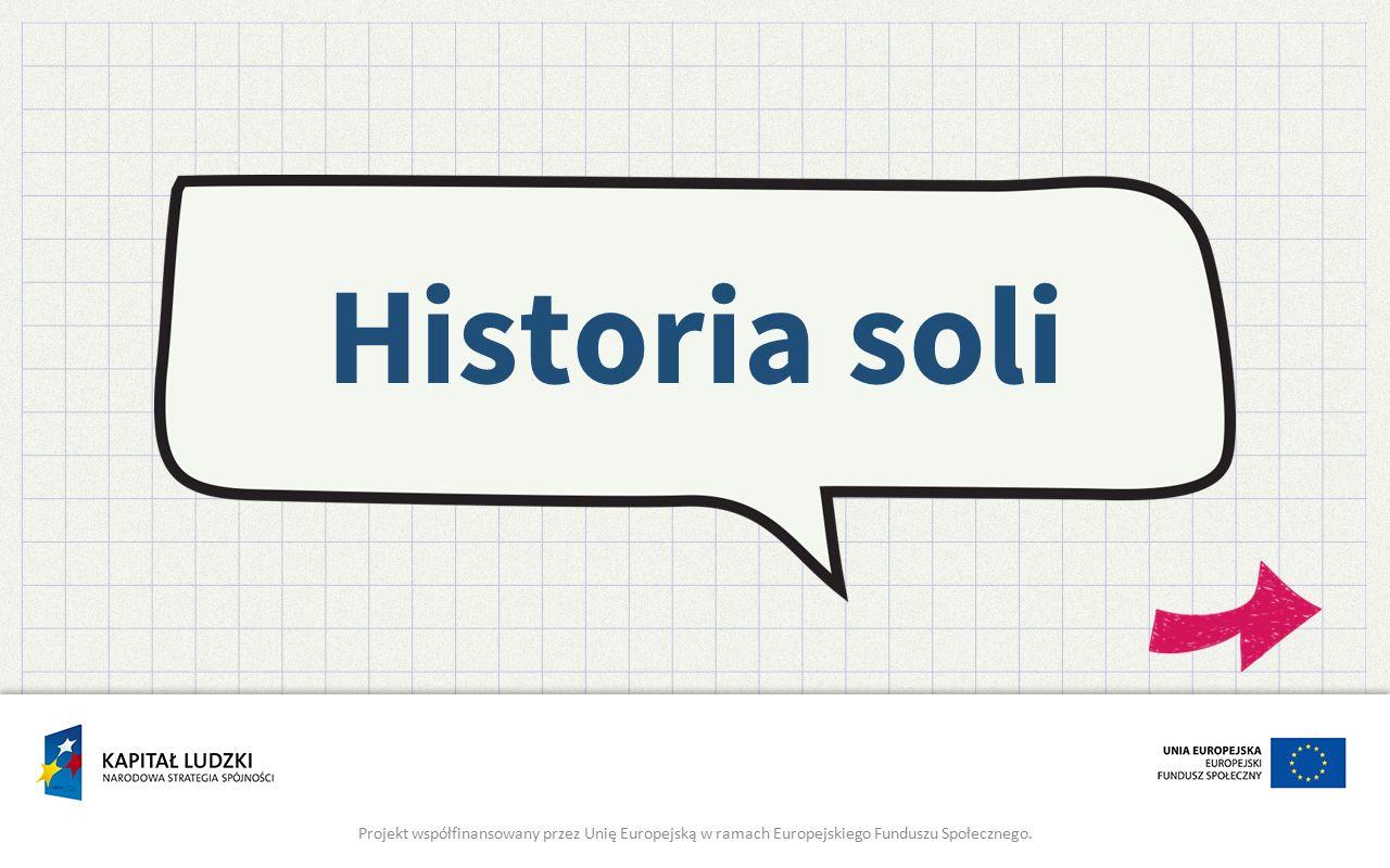 Historia soli Projekt współfinansowany przez Unię Europejską w ramach Europejskiego Funduszu Społecznego.