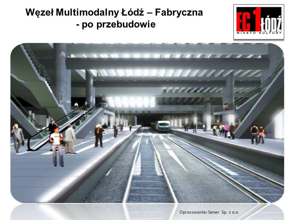 Węzeł Multimodalny Łódź – Fabryczna - po przebudowie Opracowanie: Sener Sp. z o.o.