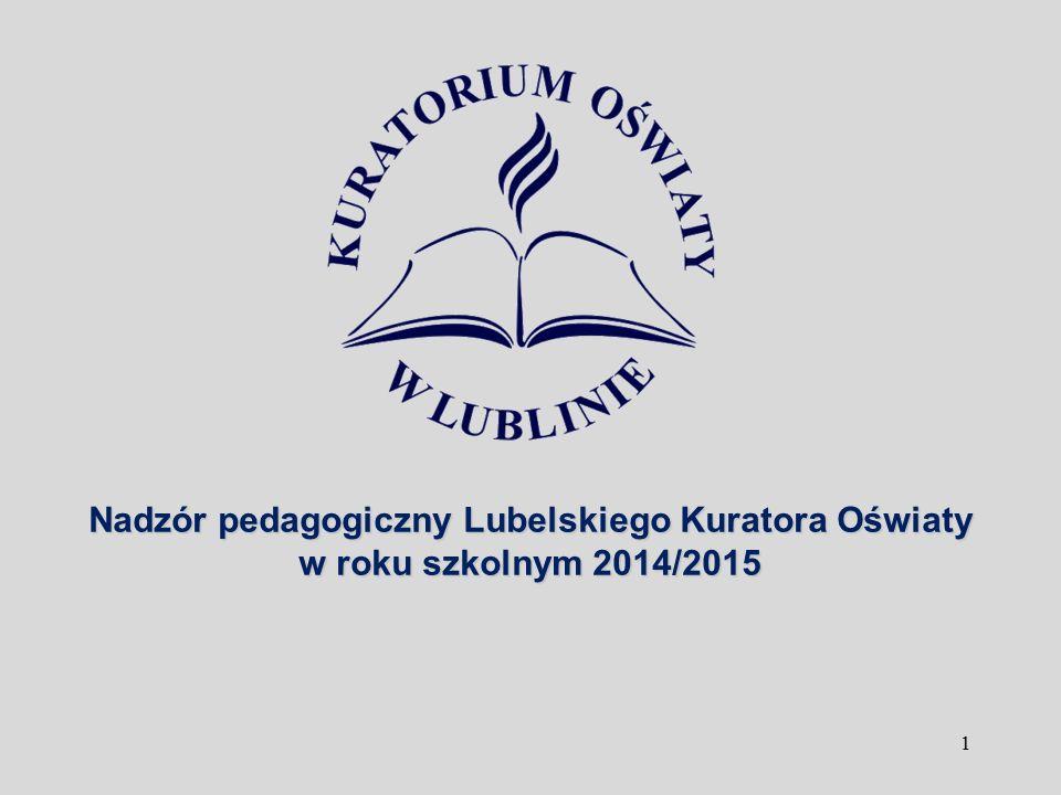 1 Nadzór pedagogiczny Lubelskiego Kuratora Oświaty w roku szkolnym 2014/2015