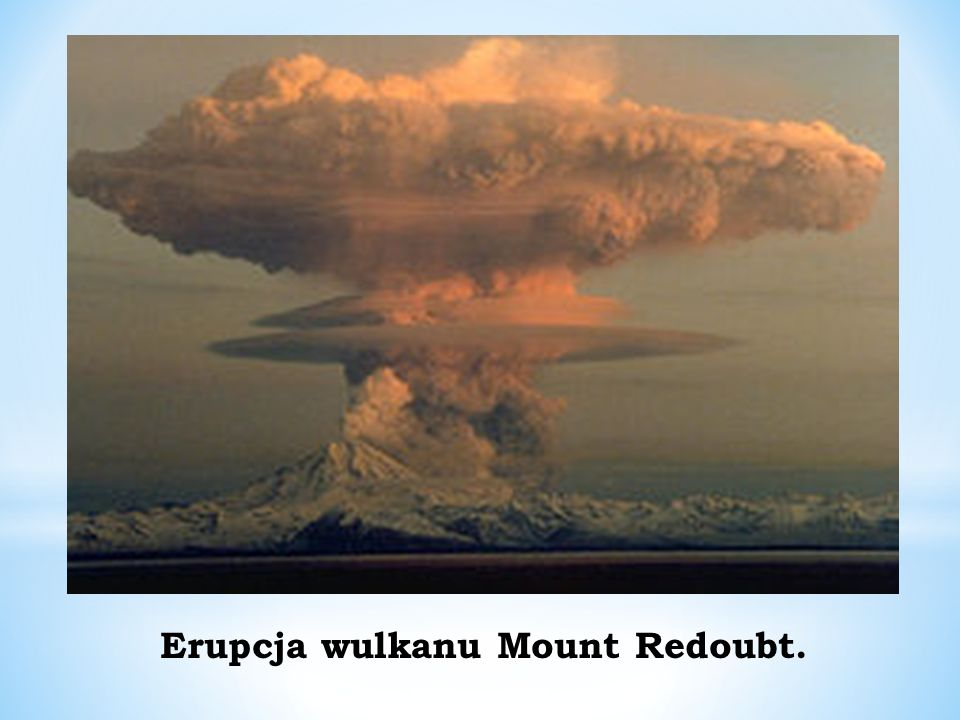 Erupcja wulkanu Mount Redoubt.