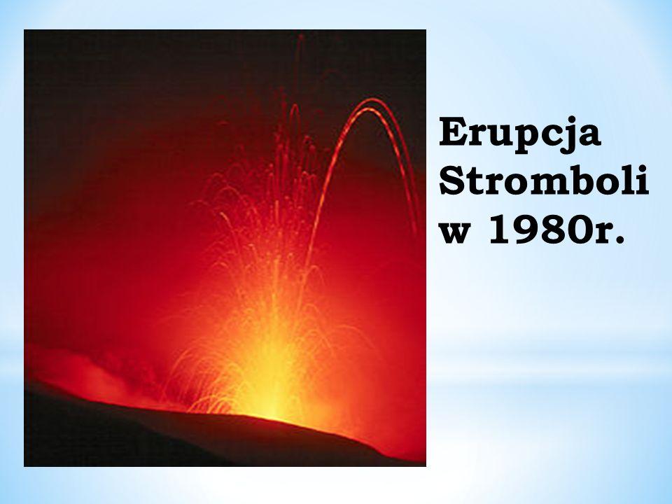 Erupcja Stromboli w 1980r.