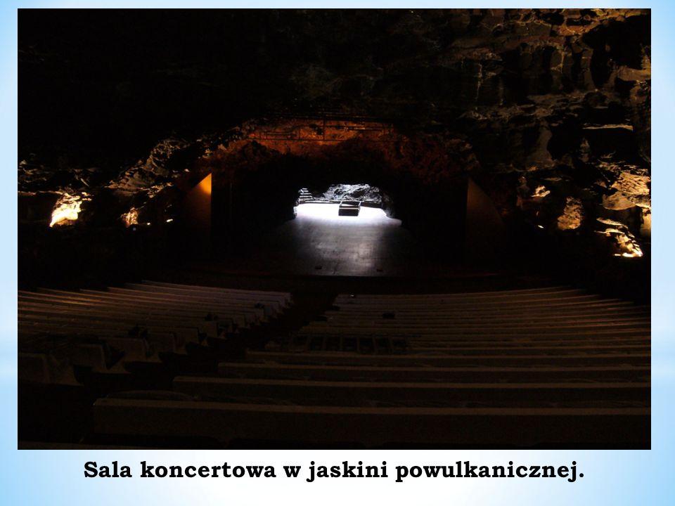 Sala koncertowa w jaskini powulkanicznej.