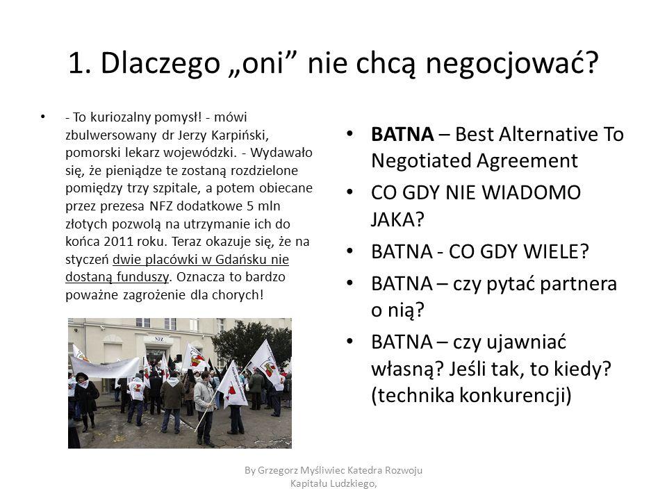 """1. Dlaczego """"oni nie chcą negocjować. - To kuriozalny pomysł."""