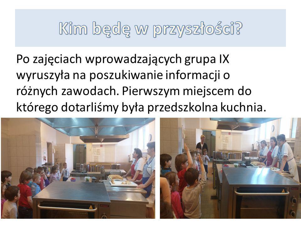 Po zajęciach wprowadzających grupa IX wyruszyła na poszukiwanie informacji o różnych zawodach.