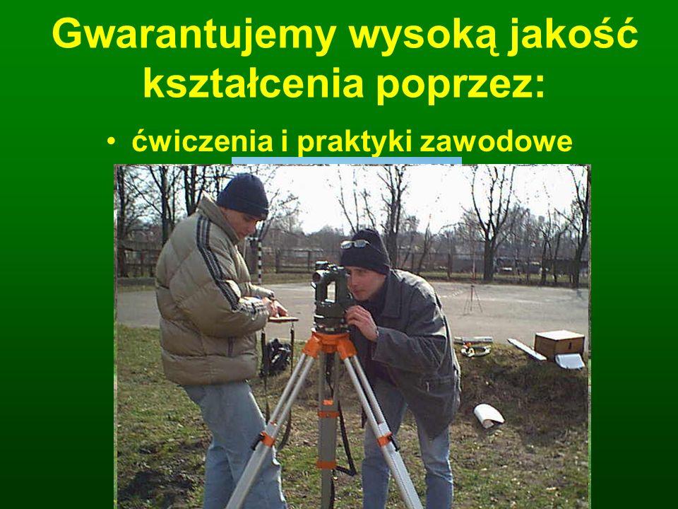 Gwarantujemy wysoką jakość kształcenia poprzez: profesjonalne wyposażenie pracowni