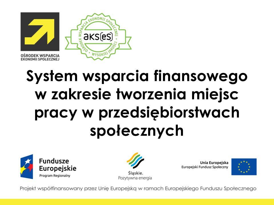 System wsparcia finansowego w zakresie tworzenia miejsc pracy w przedsiębiorstwach społecznych