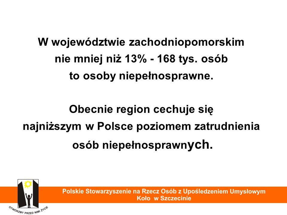 W województwie zachodniopomorskim nie mniej niż 13% - 168 tys.