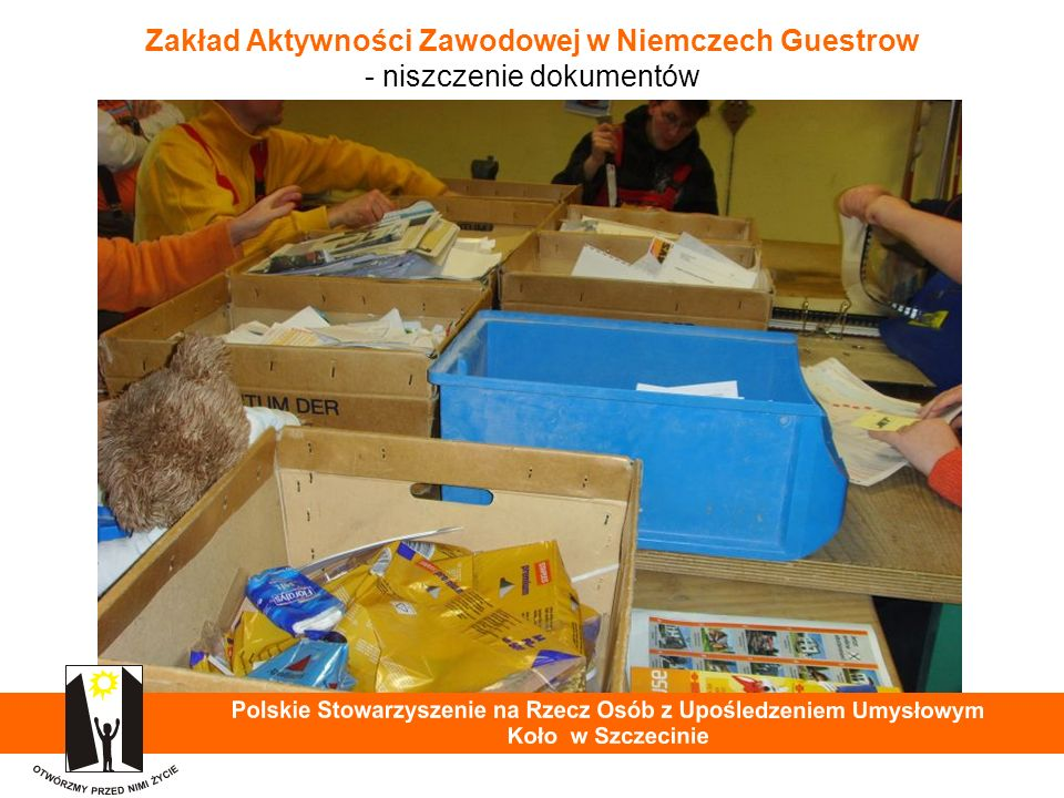 Zakład Aktywności Zawodowej w Niemczech Guestrow - niszczenie dokumentów 26