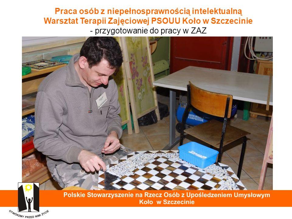 Praca osób z niepełnosprawnością intelektualną Warsztat Terapii Zajęciowej PSOUU Koło w Szczecinie - przygotowanie do pracy w ZAZ 38
