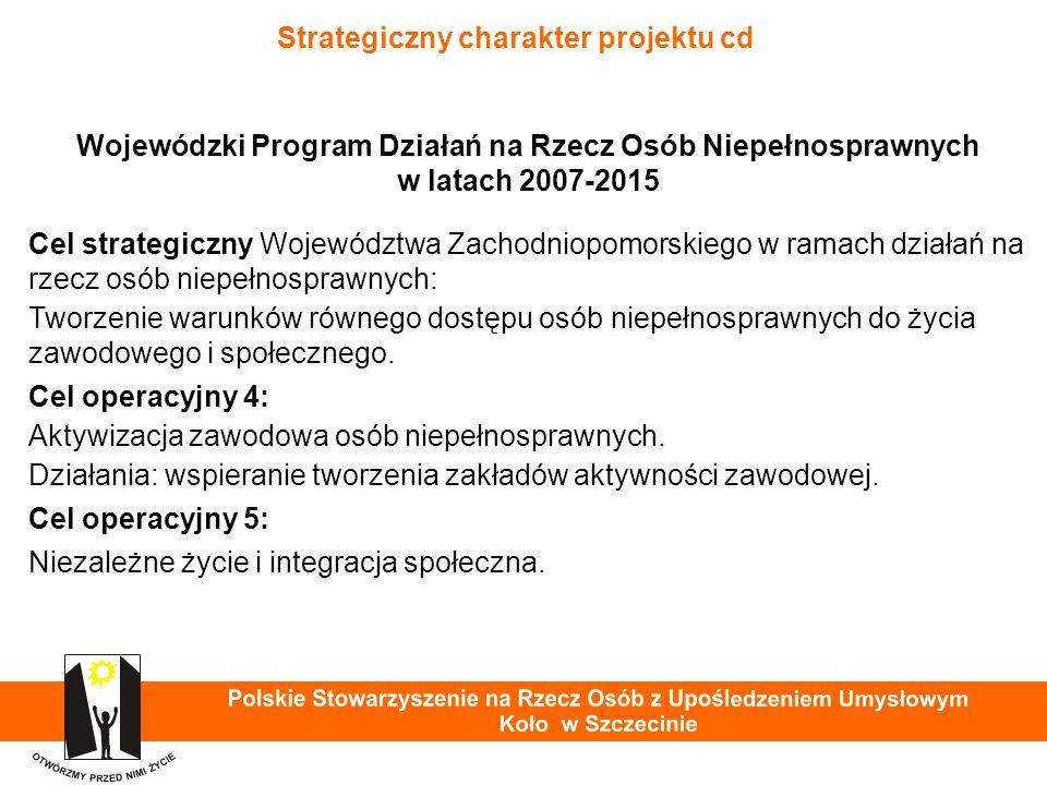 Praca osób z niepełnosprawnością intelektualną Warsztat Terapii Zajęciowej PSOUU Koło w Szczecinie - przygotowanie do pracy w ZAZ 29