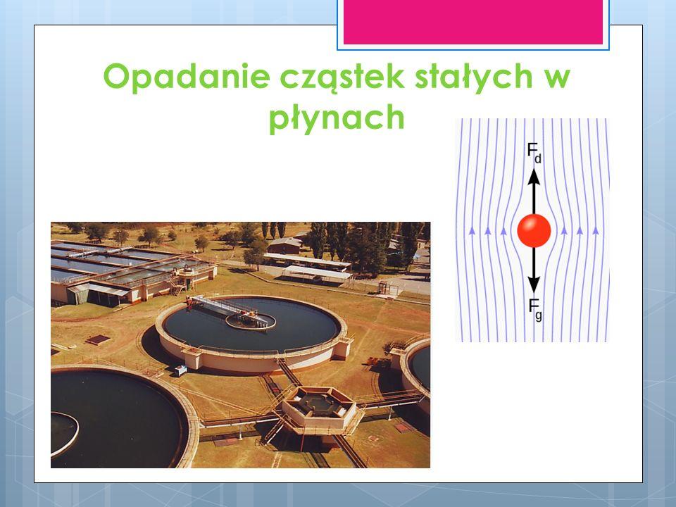 Opadanie cząstek stałych w płynach