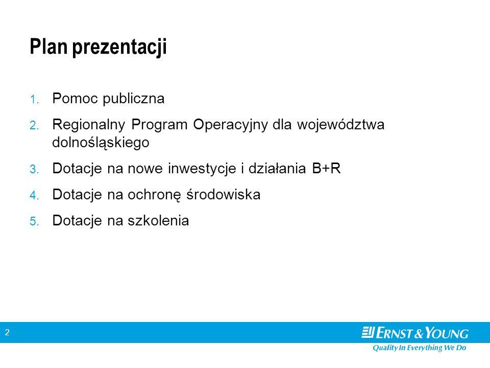 2 Plan prezentacji 1. Pomoc publiczna 2.