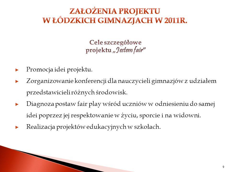 10 ► Organizacja spotkania uczniów gimnazjów z piłkarzami Klubów ŁKS i Widzew.