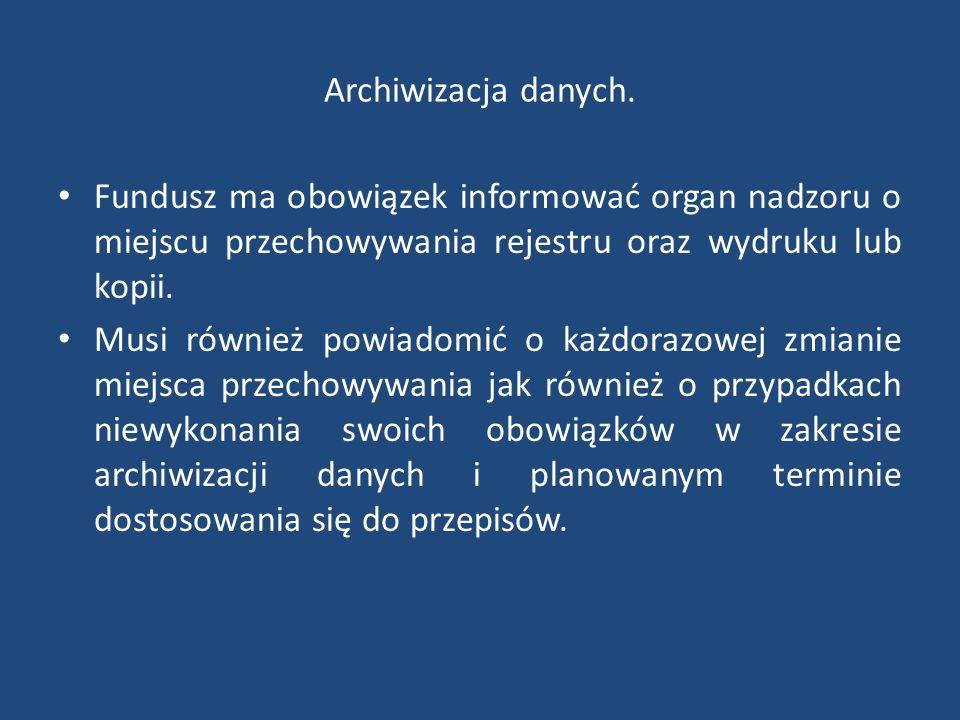 Archiwizacja danych.
