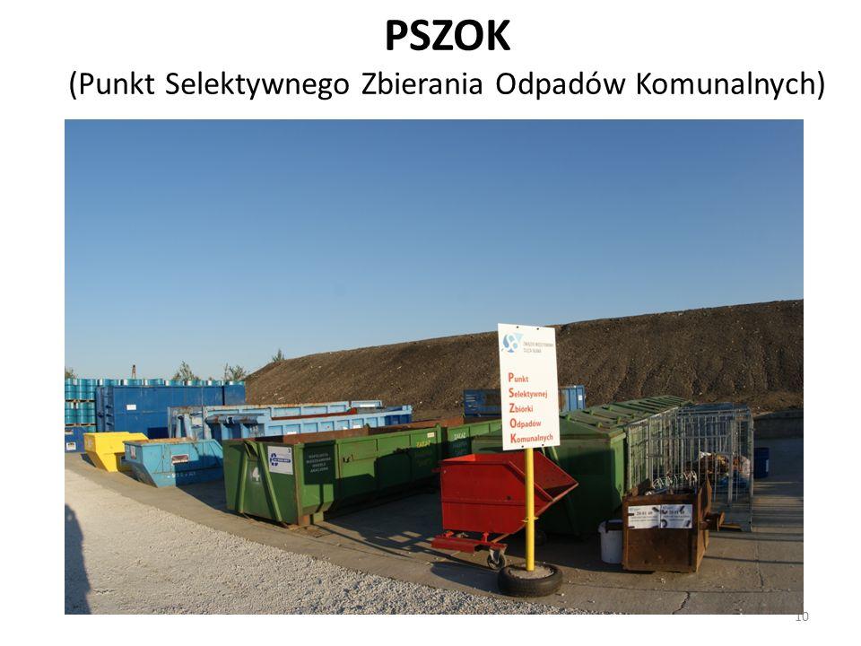 10 PSZOK (Punkt Selektywnego Zbierania Odpadów Komunalnych)