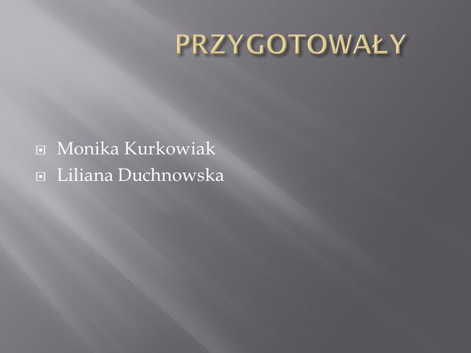  Monika Kurkowiak  Liliana Duchnowska
