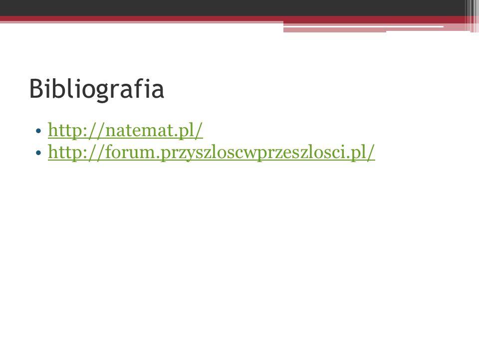 Bibliografia http://natemat.pl/ http://forum.przyszloscwprzeszlosci.pl/