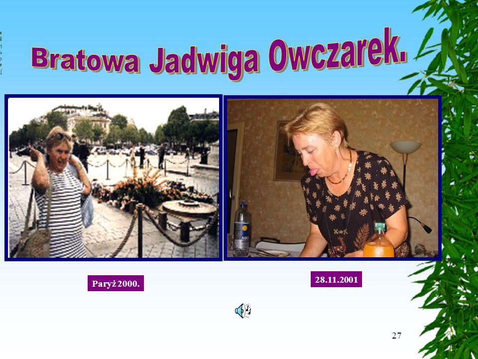 27 Paryż 2000. 28.11.2001 JadwigaJadwiga