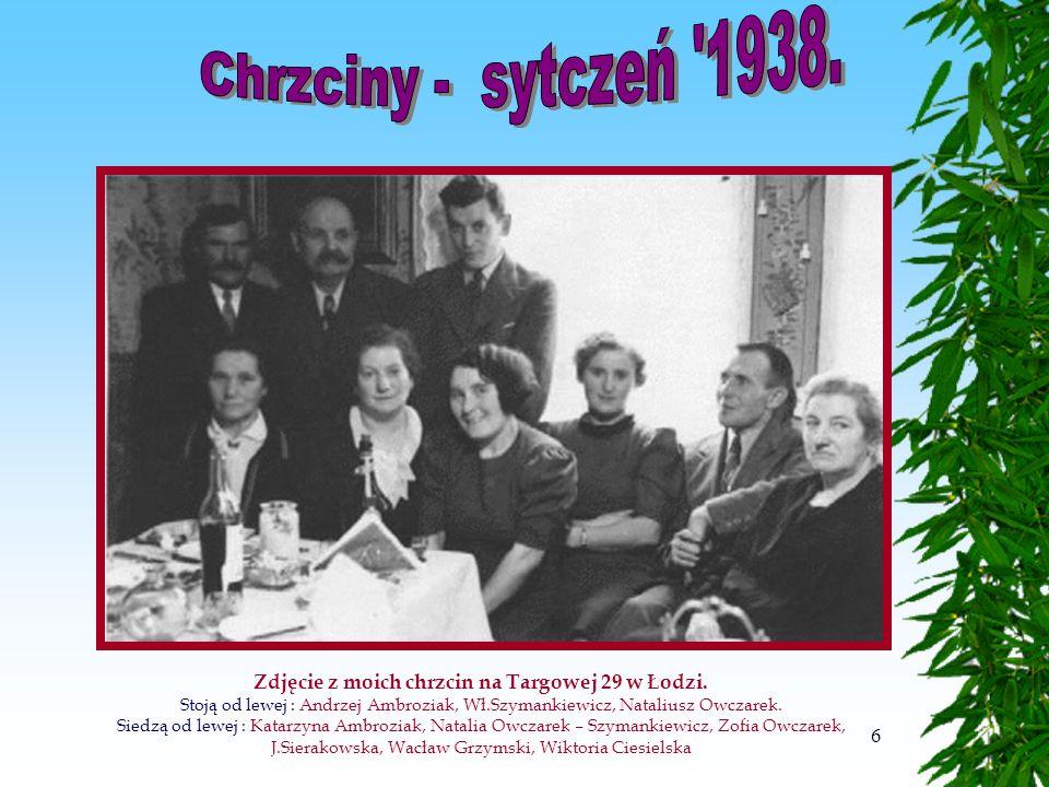 6 Zdjęcie z moich chrzcin na Targowej 29 w Łodzi.