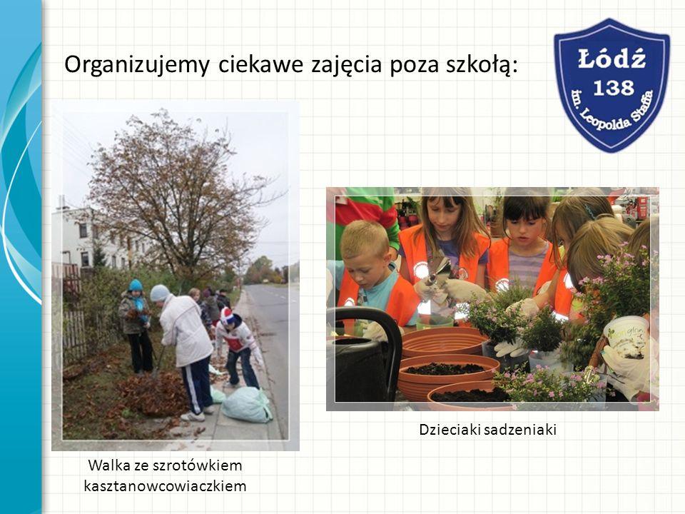 Organizujemy ciekawe zajęcia poza szkołą: Walka ze szrotówkiem kasztanowcowiaczkiem Dzieciaki sadzeniaki