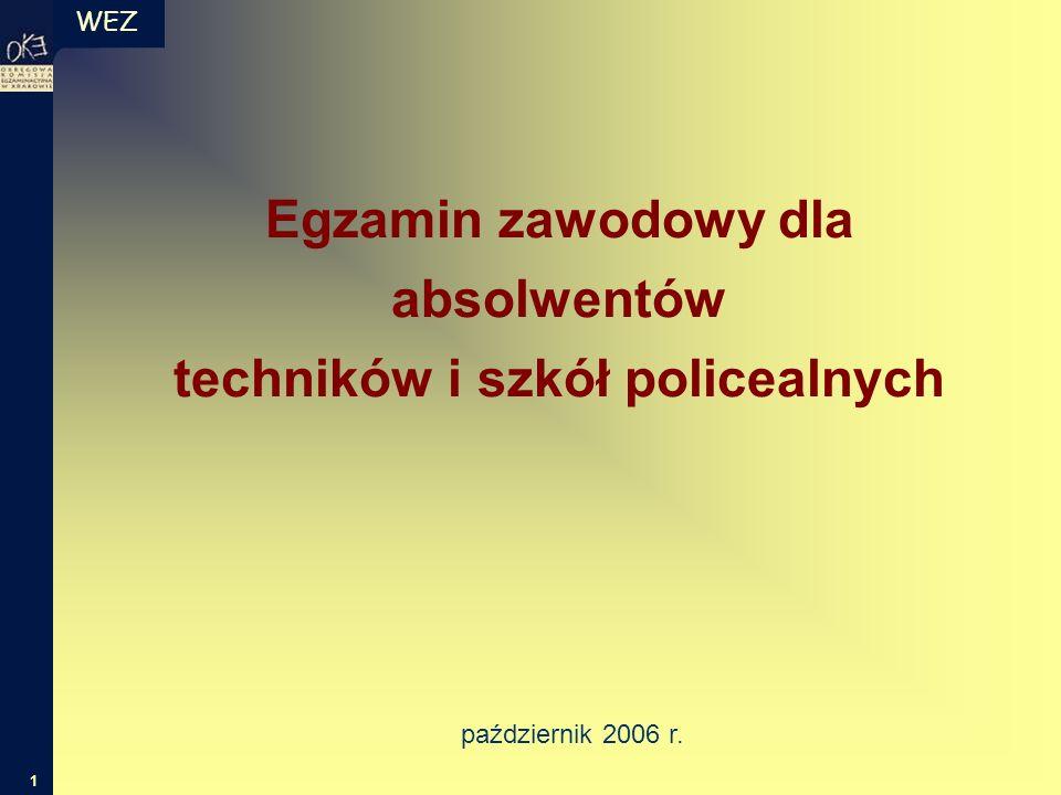 WEZ 1 Egzamin zawodowy dla absolwentów techników i szkół policealnych październik 2006 r.