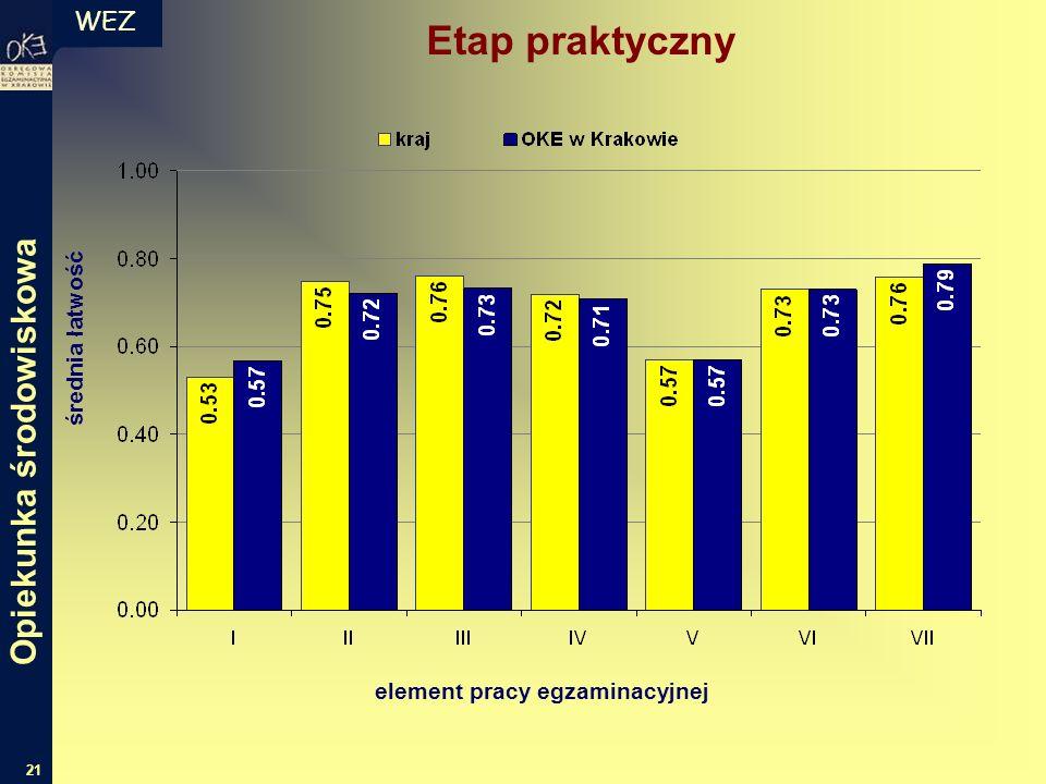 WEZ 21 Etap praktyczny średnia łatwość element pracy egzaminacyjnej Opiekunka środowiskowa
