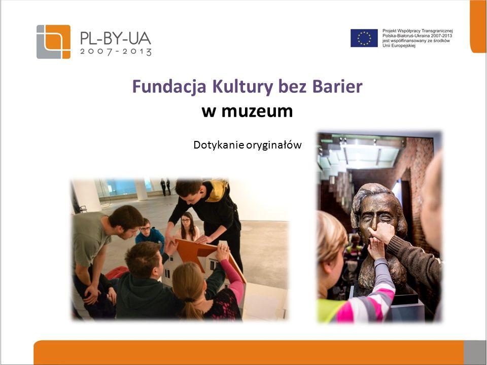 Fundacja Kultury bez Barier w muzeum Tyflografiki wykonane przez kuratorów