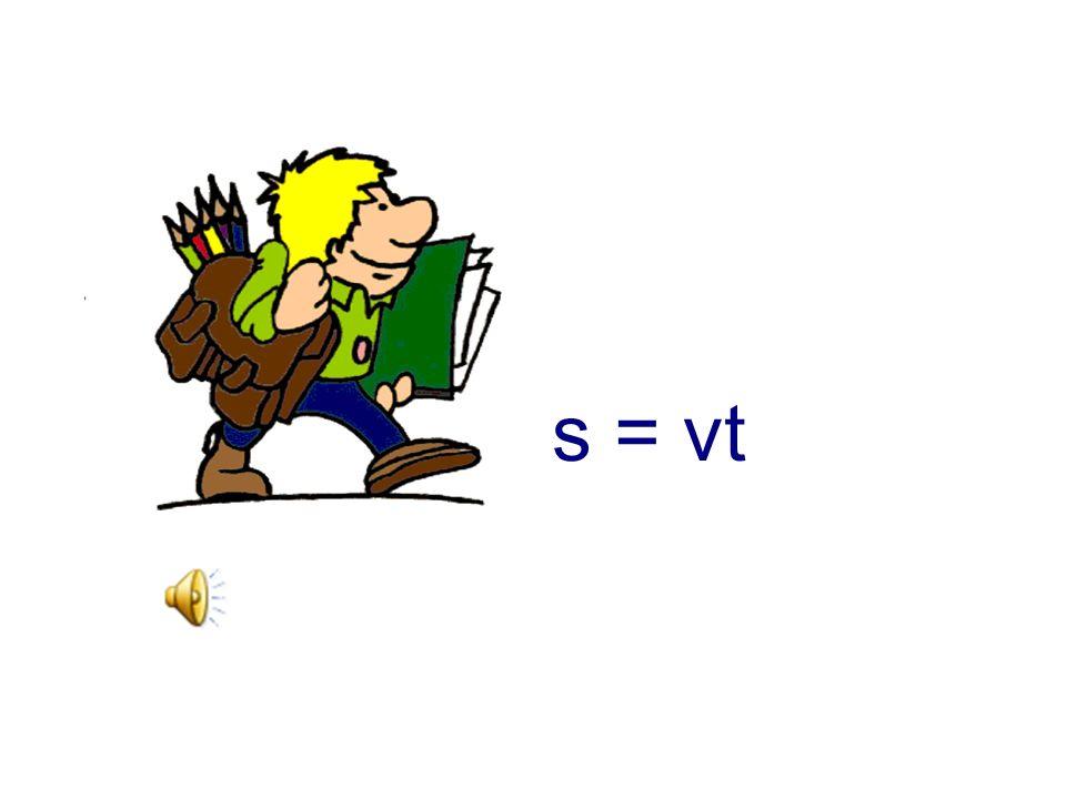 s = vt