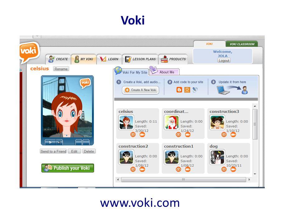 Voki www.voki.com