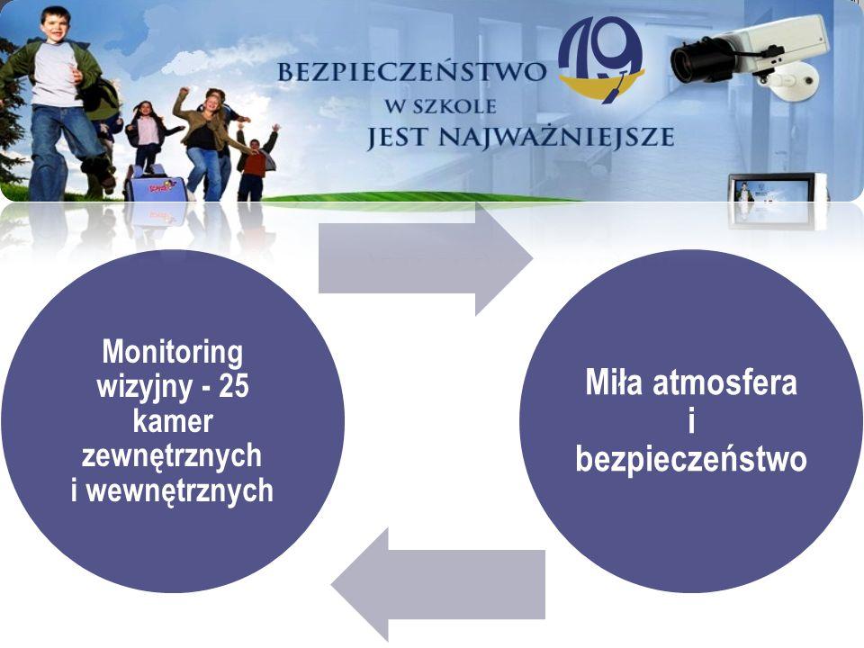 Monitoring wizyjny - 25 kamer zewnętrznych i wewnętrznych Miła atmosfera i bezpieczeństwo
