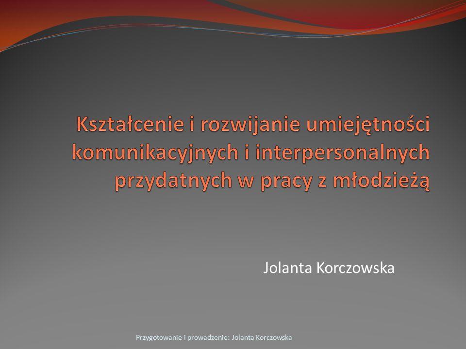 Jolanta Korczowska Przygotowanie i prowadzenie: Jolanta Korczowska